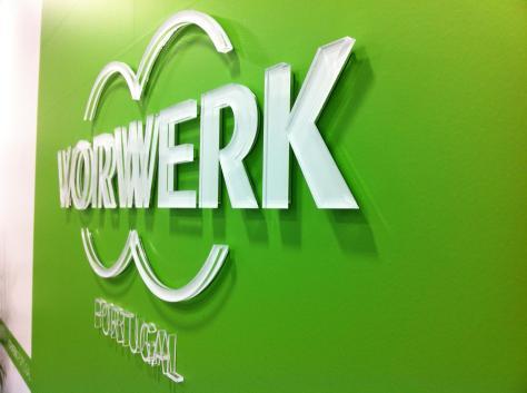 Decoração de entrada de escritório da Vorwerk.
